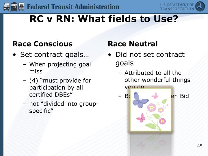 RC v RN: What fields to Use?