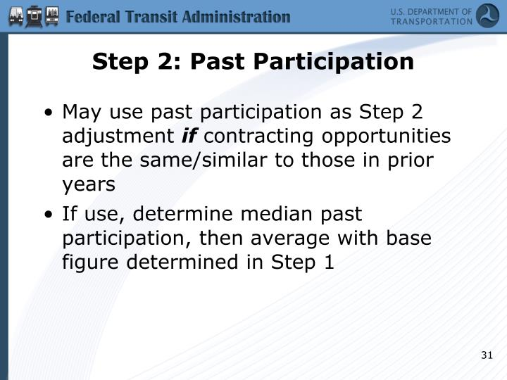Step 2: Past Participation