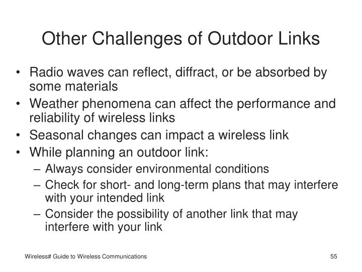 Other Challenges of Outdoor Links