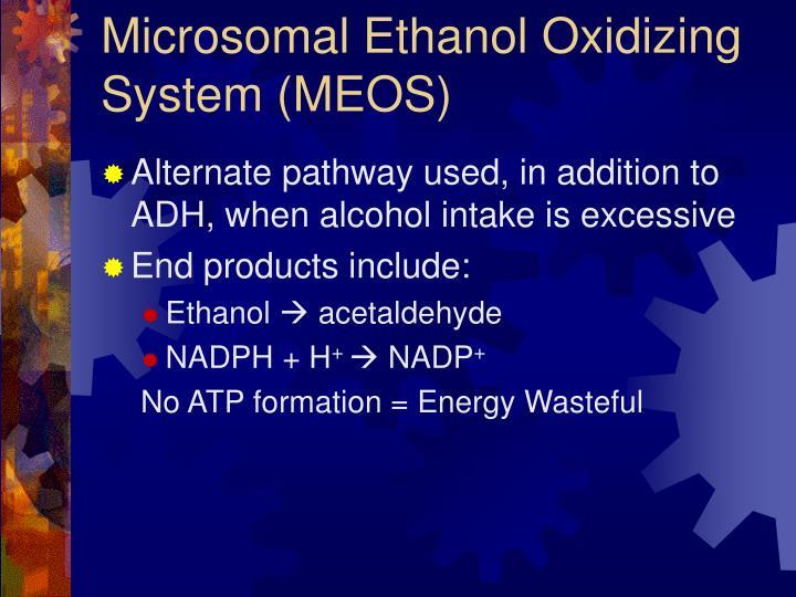 Microsomal Ethanol Oxidizing System (MEOS)