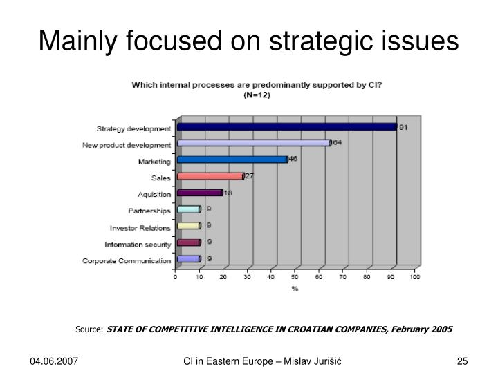 Mainly focused on strategic issues