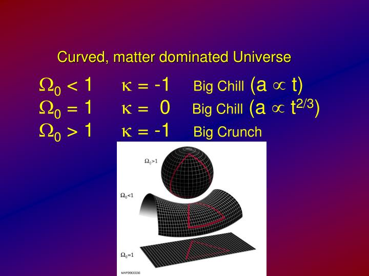 Curved, matter dominated Universe