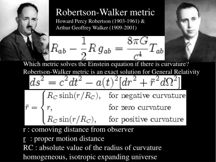 Robertson-Walker metric