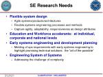 se research needs
