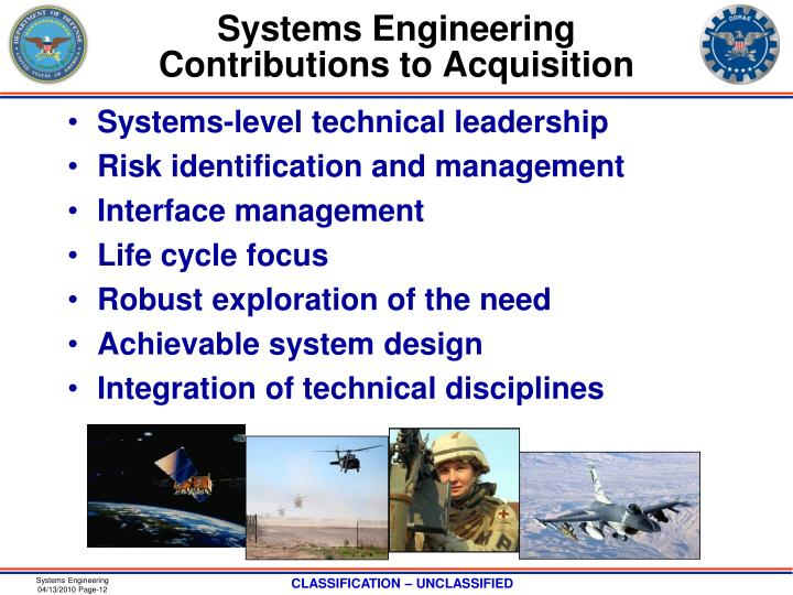 Systems Engineering Contributions to Acquisition