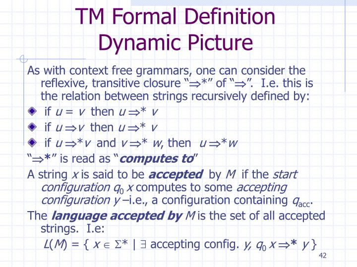 TM Formal Definition