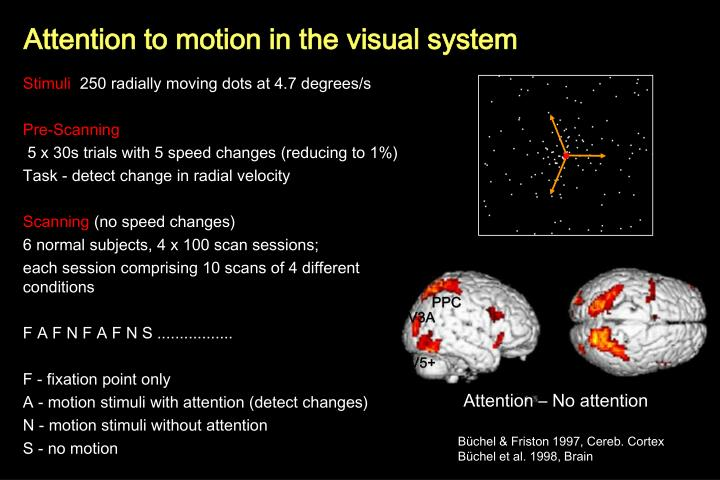 Attention to motion in the visual system