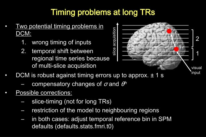 Timing problems at long TRs