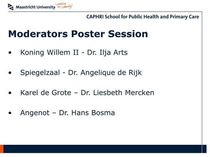 Moderators Poster Session