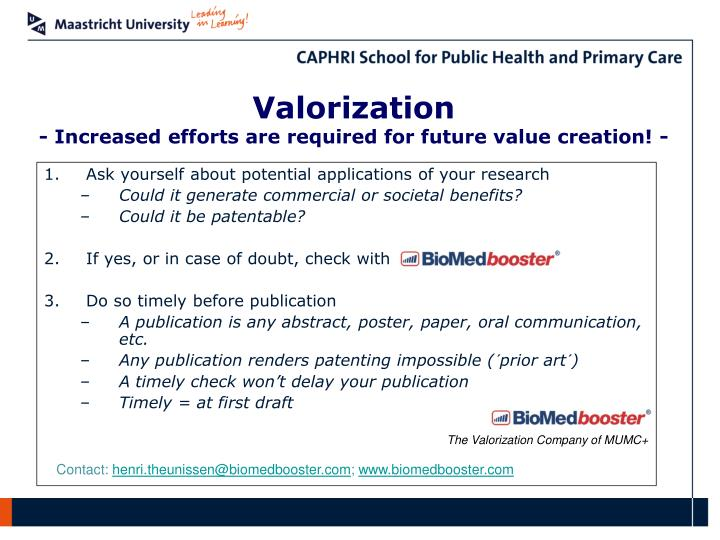 Ask yourself about potential applications of your research