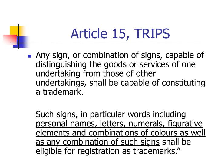 Article 15 trips