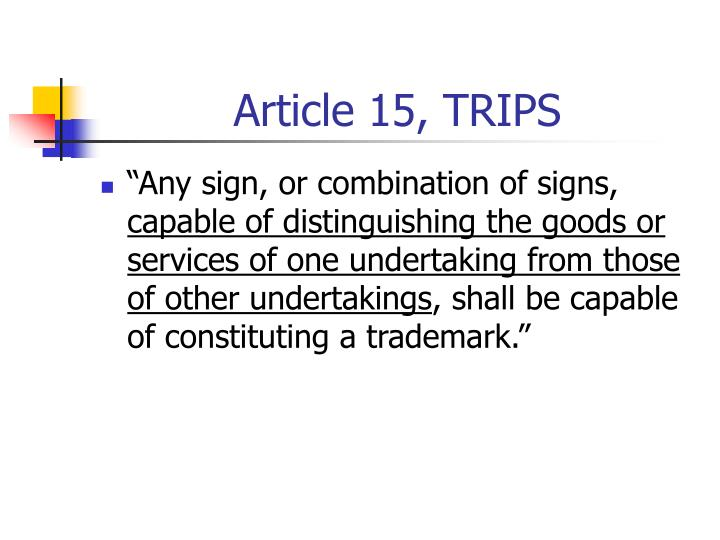 Article 15, TRIPS