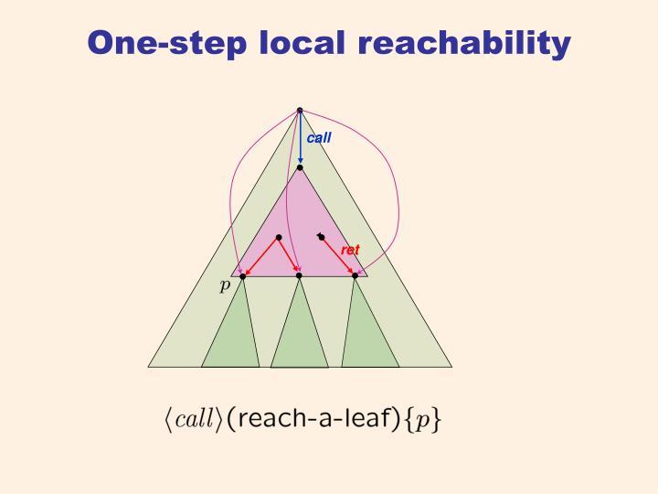 One-step local reachability