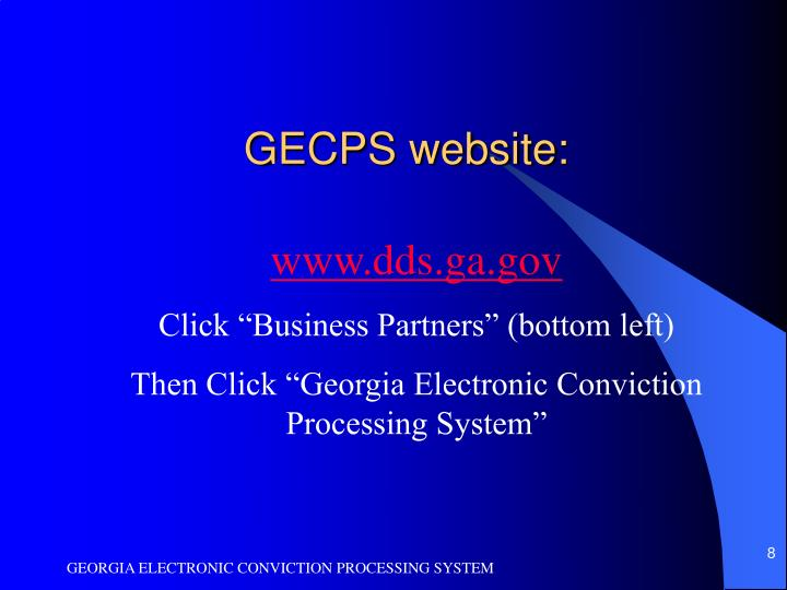 GECPS website:
