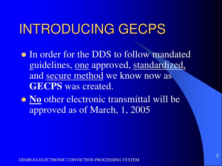 INTRODUCING GECPS