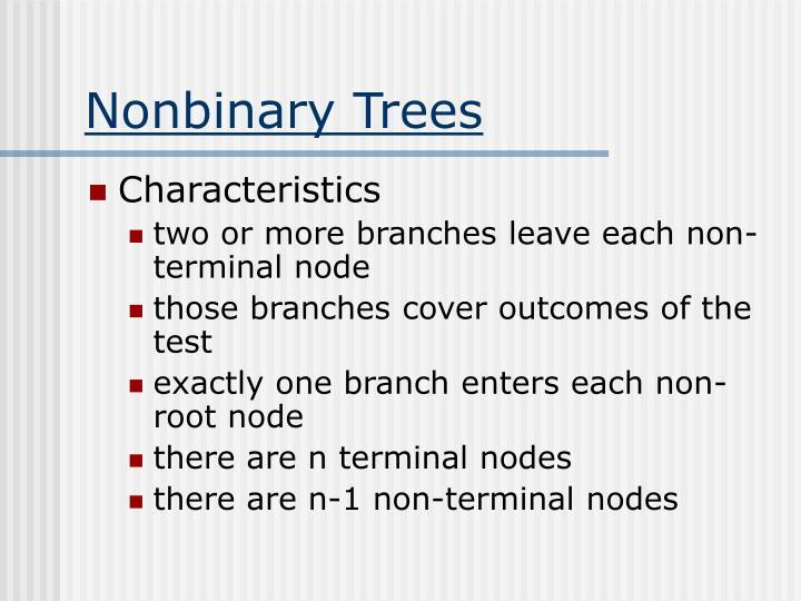Nonbinary Trees