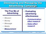 developing and managing the advertising campaign6