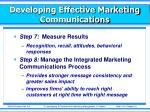 developing effective marketing communications11