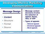 developing effective marketing communications2