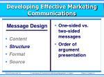 developing effective marketing communications3