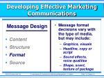 developing effective marketing communications4