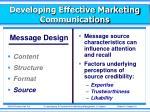 developing effective marketing communications5