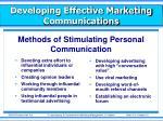developing effective marketing communications7