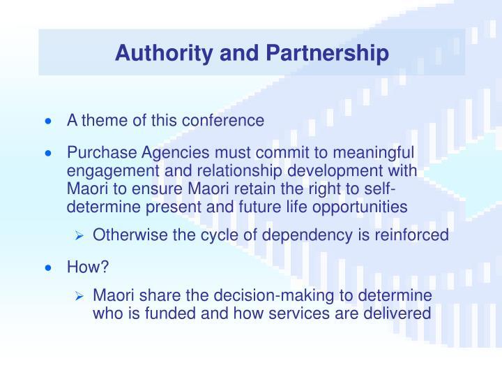 Authority and Partnership