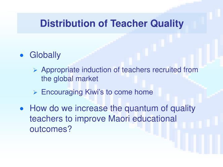 Distribution of Teacher Quality