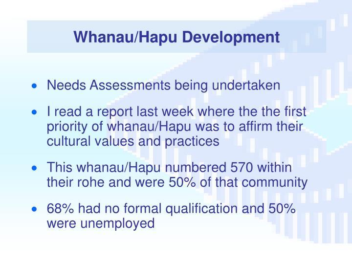 Whanau/Hapu Development