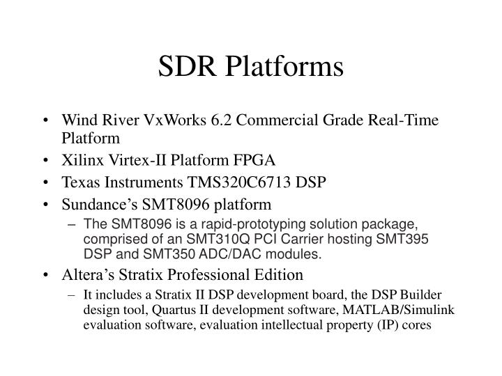SDR Platforms