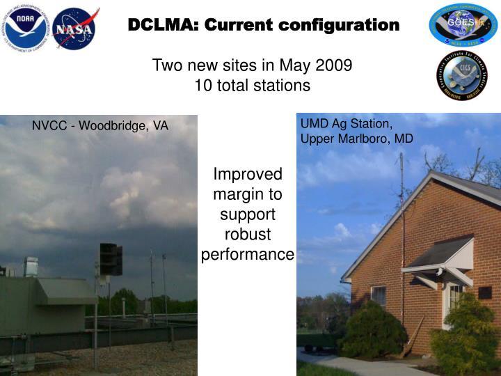 DCLMA: Current configuration