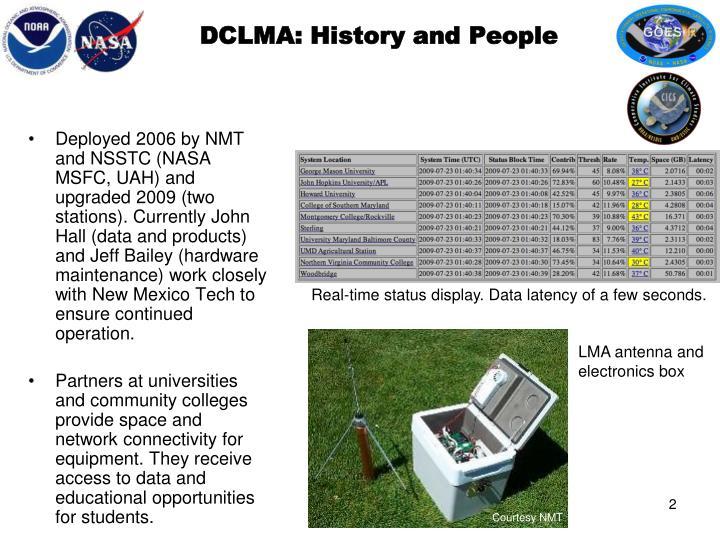 DCLMA: History and People