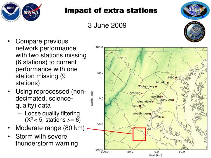 Impact of extra stations