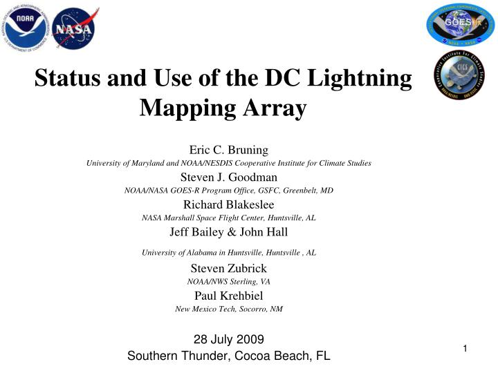 status and use of the dc lightning mapping array