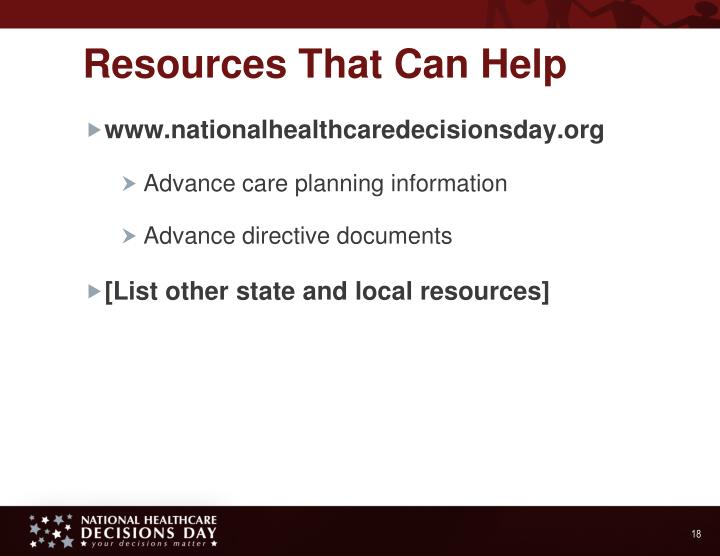 Resources That Can Help