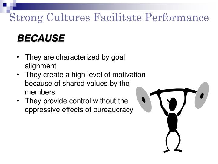 Strong Cultures Facilitate Performance
