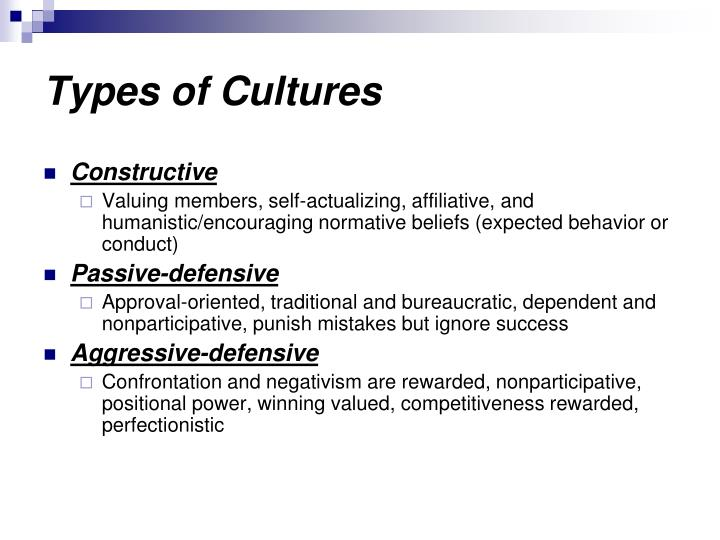Types of Cultures