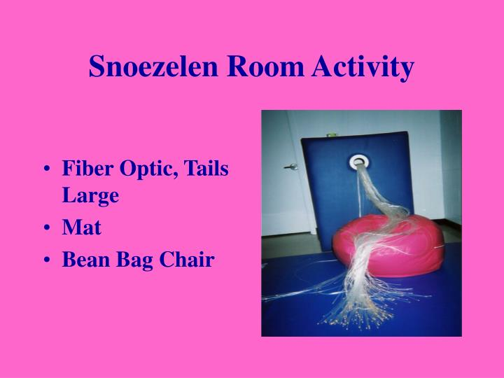 Snoezelen Room Activity