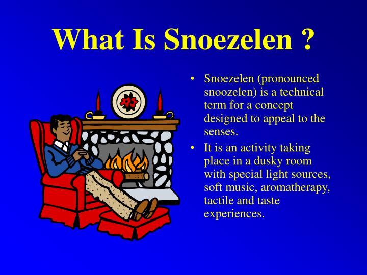 What Is Snoezelen ?
