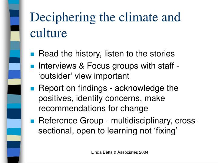 Deciphering the climate and culture