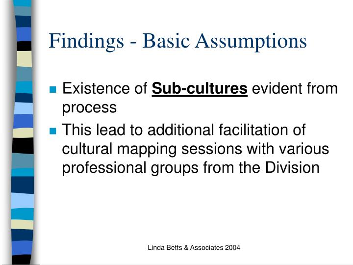 Findings - Basic Assumptions