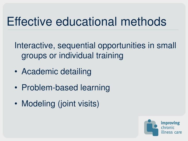 Effective educational methods