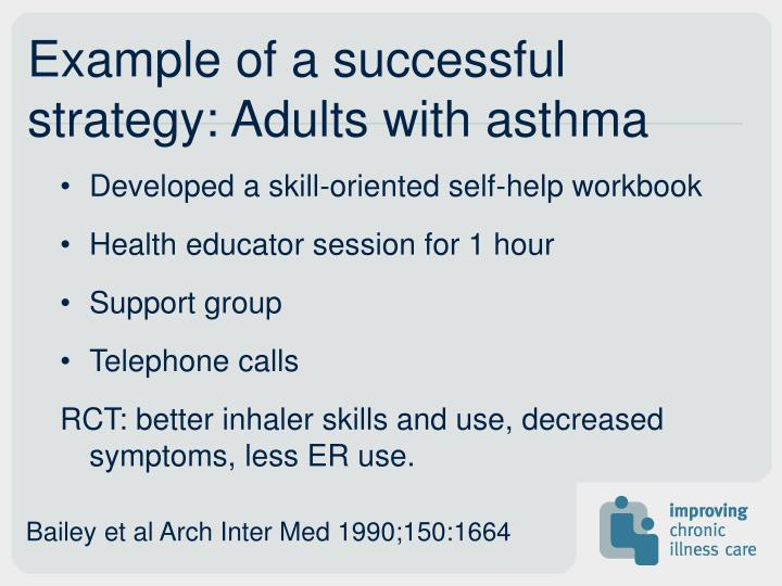 Example of a successful strategy: Adults with asthma