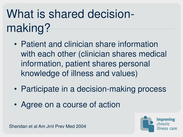 What is shared decision-making?