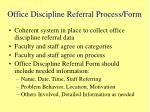 office discipline referral process form