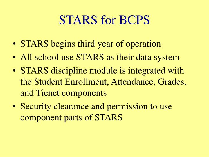 STARS for BCPS