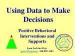 using data to make decisions