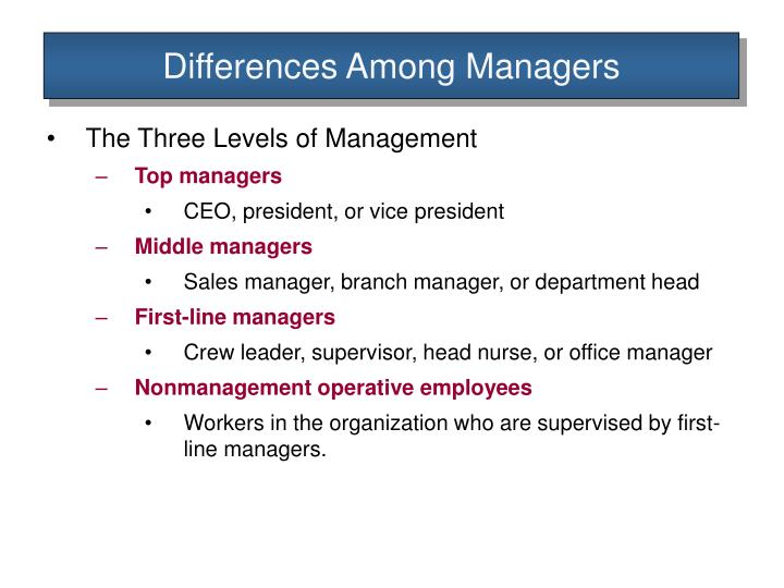 Differences Among Managers