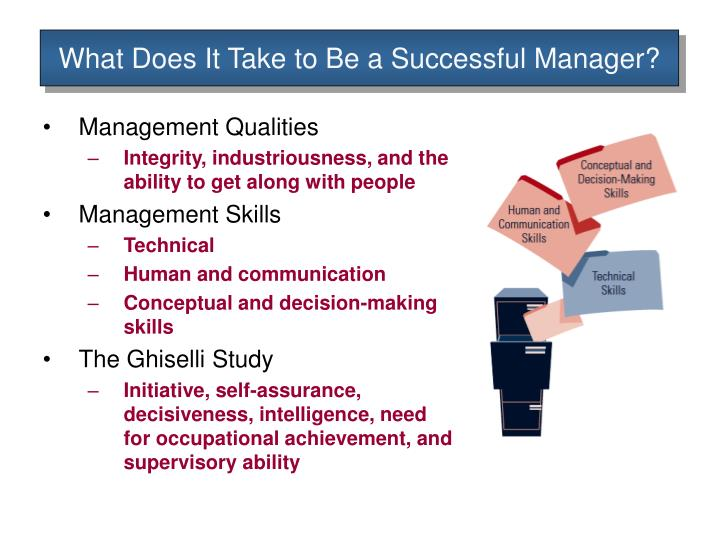 What Does It Take to Be a Successful Manager?